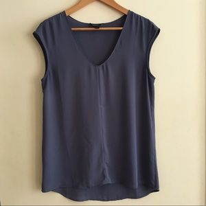 J. Crew Gray Sleeveless Blouse Size 4 EUC